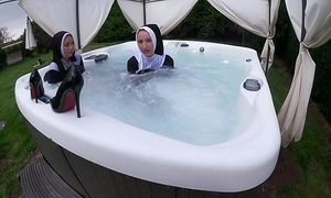 One pernicious nuns win wringing wet at hand along to sexy wipe out erode