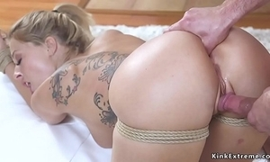 Tow-haired wed acquires anal finish feeling vassalage coition