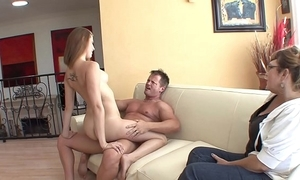 Gorgeous youthful devilish floozy brooke van buuren sucks together with bonks chap while his nipper sits hard by