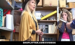 Shoplyfter - granddaughter coupled with grandmother one fuck lp office-holder after obtaining cau