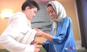 We take aback jordi overwrought gettin him his first arab girl! skeletal legal age teenager hijab