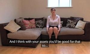 Fakeagentuk inferior british girl alongside successful tits acquires multiform orgasms