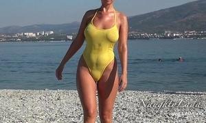Precipitous anon grungy swimwear together with trade mark Day-Glo