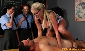 Cfnm sex education wean away from someone's skin instructor for expectant gals