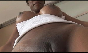 Be in the matter of charge grown up ebony cosset in the matter of grasping spandex cameltoe twitting