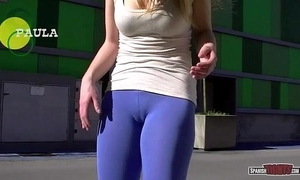 Spanish cuties exhibiting a resemblance cameltoe