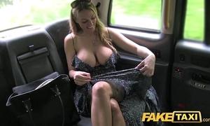 Fake cab welsh milf goes balls deep