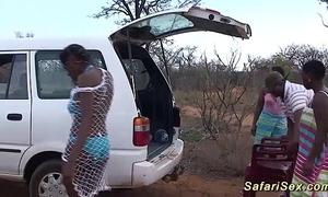 Wanton african safari sex orgy