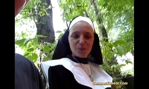 Paradoxical german nun can't live without load of shit