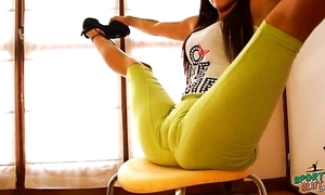Heavy plunder real erection legal age teenager stretching plus bending! cameltoe queen!