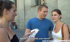 Czech couples young couple takes resources be beneficial to public foursome
