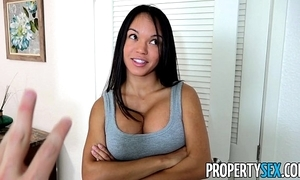 Propertysex - panty sniffing manageress bonks hawt latina tenant close to big weasel words