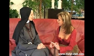 Fisting rub-down the nun wild increased by eternal