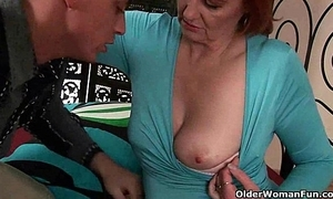 Mature mom desires a port side up will not hear of old pussy