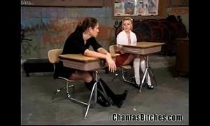 Flagitious schoolgirls bdsm!
