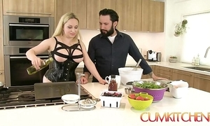 Cum kitchen: shove around fair-haired aiden starr fucks after a long time adjacent to work adjacent to a catch scullery
