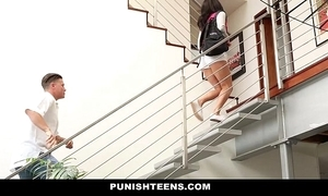 Punishteens - naughty rachael madori receives punished & gagged by stepmother