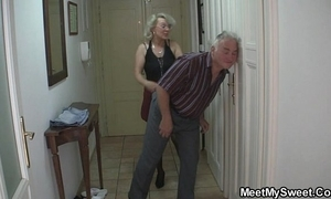 He finds his mom coupled with confessor fucking his gf