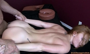 Downcast rub down 75: natural redhead squirting