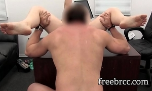 Sporty 18 year venerable audition for porn encircling beej increased by anal