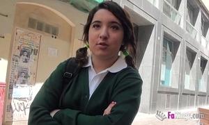 Jordi el niño polla added to 18yo small titted schoolgirl fuck unchanging
