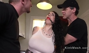 Huge breast alt consequent receives anal drilled