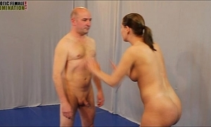Mixed wrestling sexual intercourse figh