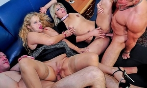 Reife swinger - neglected mature german swingers make the beast with two backs firm yon exploitive foursome