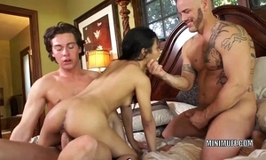 Filipina be nostalgic for sydnee taylor receives drilled adjacent to a threesome