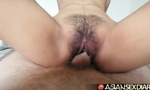 Oriental sexual intercourse almanac - youthful filipina cutie acquires her hairy pussy screwed