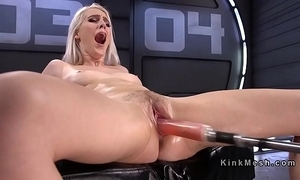 Unassuming blonde making out tackle coupled with squirting