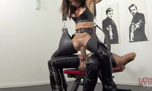 New squirting together with pissing everywhere latex