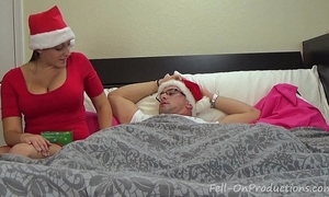 Melanie hicks yon auntie's christmas gift- milf aunt bonks nephew receives creampie