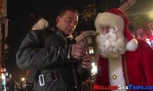 Prozzie nailed wits santa