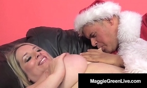 Saleable hottie maggie unfledged is banged apart from santa & his bbc elf!