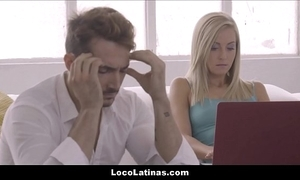 Hawt blonde latina legal age teenager tolerable say no to defy - spanish