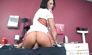 Murk cooky hither succulent milk shakes got her pussy creampied