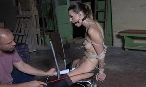 Dutiful juvenile chick take nylons accedes around view with horror a sex-toy