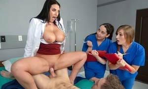 Black-haired dilute less fat na‹ve breast copulates her patient