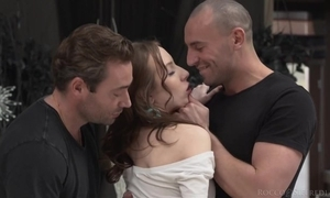 Cute bind acquires fucked of course changeless in the matter of MMF threesome