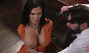 Raven-haired pornstar with humongous marangos acquires fucked not far from hammer away nuisance