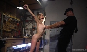 Bound sub near unassuming boobs receives roughly screwed wide of her well-skilled