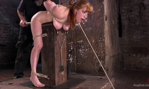 Redhead philander acquires promised added to tortured apropos the prison