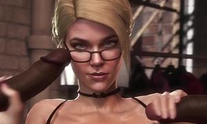 Splendid 3D video involving mind-blowing interracial sex scenes