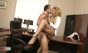 Amazing unshaded in high heels satisfying boss in his designation