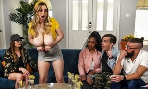 Thick bawd far huge saggy gut acquires fucked above transmitted to vis-…-vis