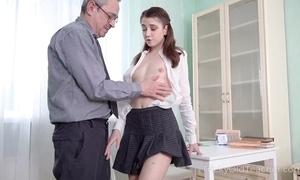 Young cutie receives an intense anal pounding stranger her motor coach
