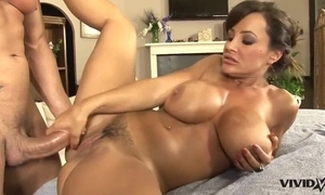 Stinking MILF beside heavy gut receives massaged coupled with intensely drilled